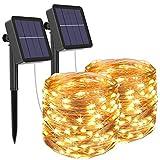 [2 Pack] Guirnaldas Luces Exterior Solar, Litogo Luces Led Solares Exteriores...