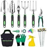 INPHER 33PCS Herramientas Jardinerías,Kit de Jardinería Acero...