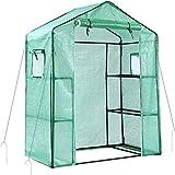 Invernadero para exteriores Ohuhu. Nuevo modelo con ventanas, 3 niveles y 6...