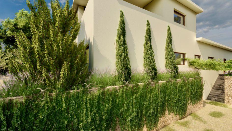 Diseño de jardin y obra de paisajismo en Madrid