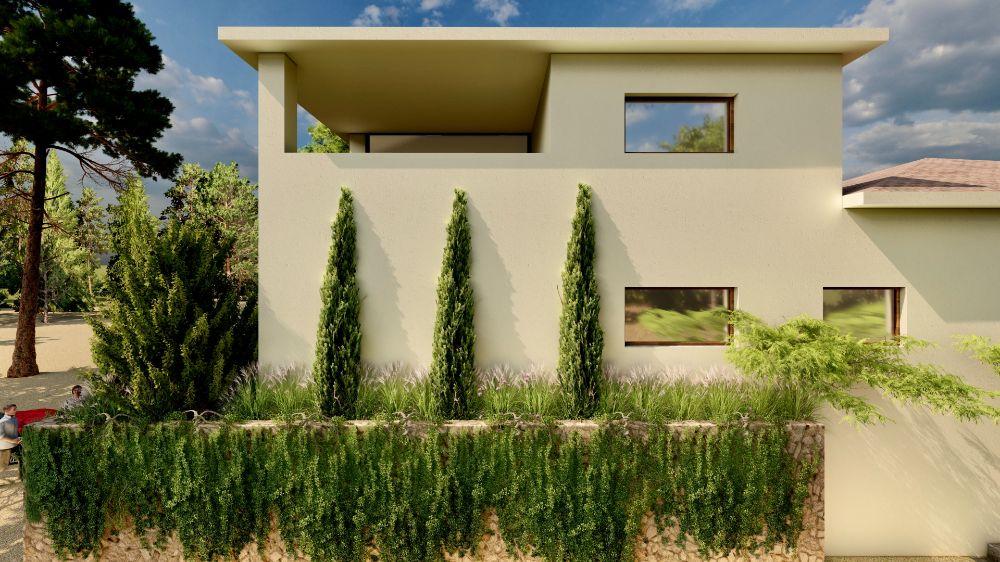 Diseño de jardin y obra de paisajismo en Madrid frontal