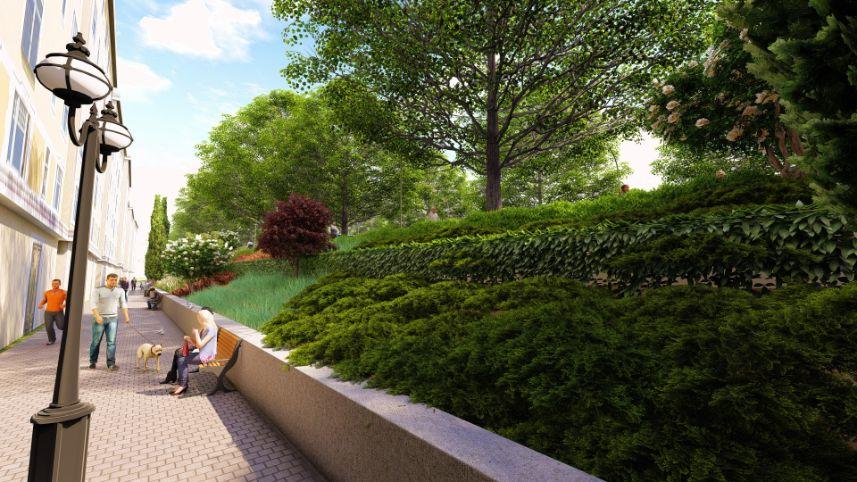 Diseño de parterre y obra de paisajismo en Madrid resultado final